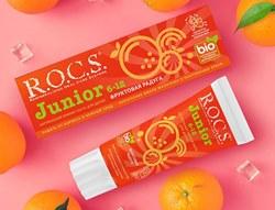 В палитре ярких вкусов зубных паст R.O.C.S.  Junior появился еще один – «Фруктовая радуга»